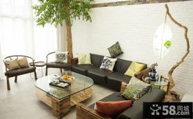 现代中式风格客厅装饰效果图片