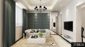 简欧风格客厅镶嵌式电视背景墙装修效果图