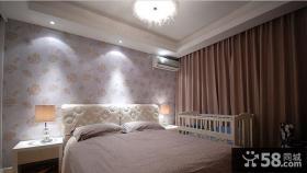 卧室室内壁纸装修效果图