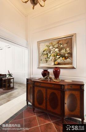 客厅挂画玄关装修效果图