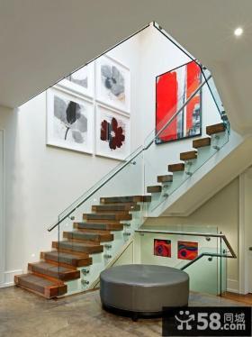 家装别墅不锈钢楼梯扶手图片