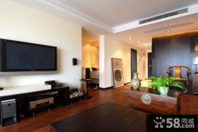 现代中式风格客厅液晶电视机背景墙效果图