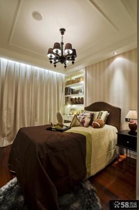 欧式两室两厅卧室吊顶装修设计