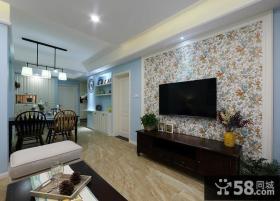 美式家庭装修客厅电视背景墙大全