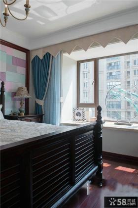 田园设计卧室飘窗大全