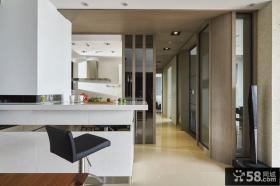 现代吧台家装室内设计效果图