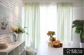 现代简约纯色窗帘效果图