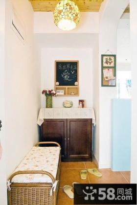 家庭进门玄关鞋柜效果图片