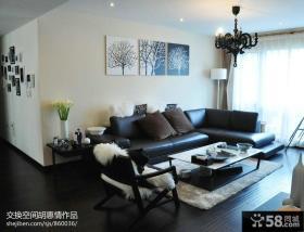 现代风格客厅沙发背景墙效果图欣赏