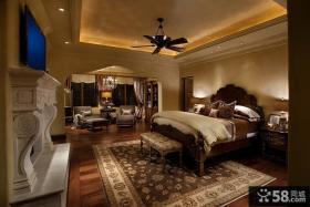 欧式别墅卧室天花灯图片