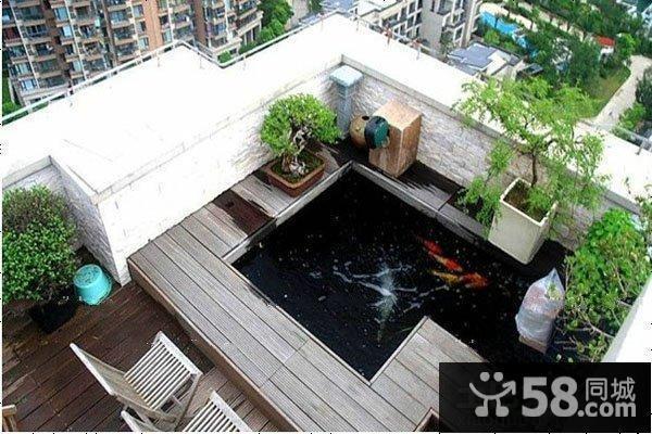 阳台鱼池装修效果图