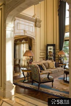 美欧风格室内四室两厅装修效果图大全