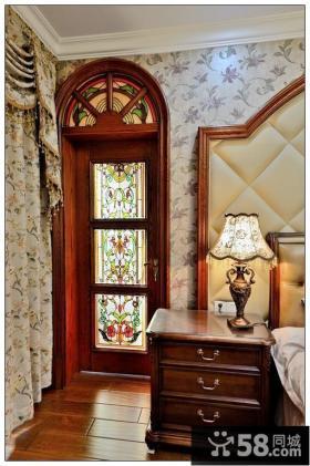美式古典风格卧室复古台灯图片欣赏