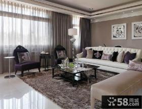 欧式风格客厅沙发摆设效果图大全