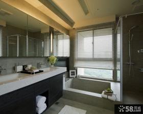 现代简约风格家庭浴室柜图片