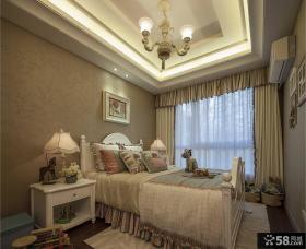 美式公主房卧室装修图片