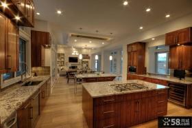 现代美式风格装修厨房整体橱柜效果图