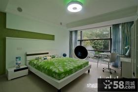 现代复式楼儿童房卧室装修效果图