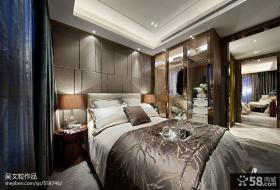 卧室床头背景墙设计效果图片大全