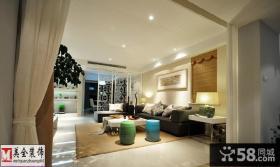 现代中式风格客厅沙发背景装饰画
