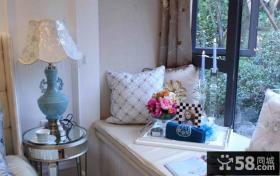 现代家居卧室飘窗装饰图片