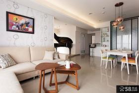 简约风格时尚家装92平米两室一厅装修效果图