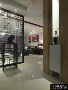 中式家居玄关装修设计效果图