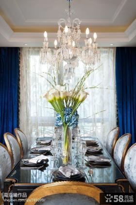 豪华别墅室内餐厅装饰