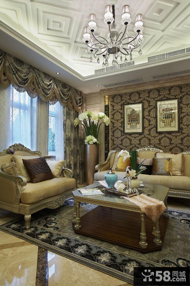 欧式风格家装别墅样板房精装修设计图片