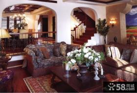美式风格别墅软装饰客厅效果图