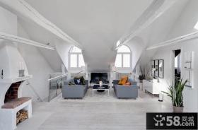 复式楼客厅装修效果图大全2013图片