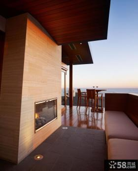 露天阳台墙面装修效果图
