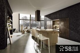 20万打造清新简欧风格厨房橱柜装修效果图大全2014图片