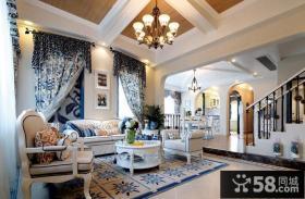 地中海风格别墅室内装饰设计效果图