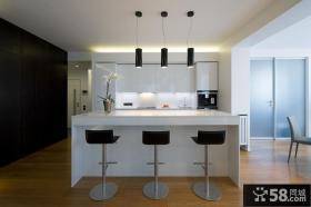现代开放式厨房餐厅效果图片