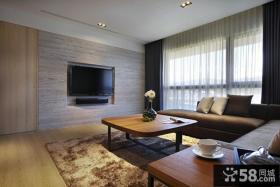 现代简约风格两室两厅客厅电视背景墙2014图片