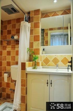 东南亚风格卫生间瓷砖色彩设计