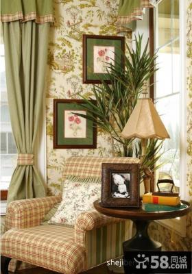 美式田园风格单人休闲沙发装修效果图