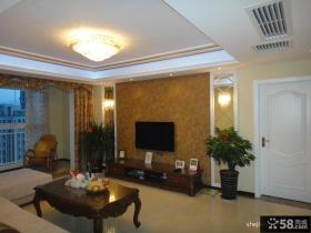 客厅电视背景墙壁纸装修效果图片