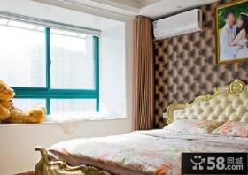 欧式田园风格9平方米卧室装修效果图