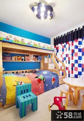 儿童房装修效果图 儿童卧室吊顶装修效果图