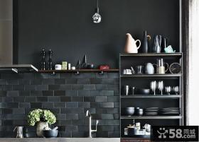 复古简欧公寓室内厨房设计效果图片