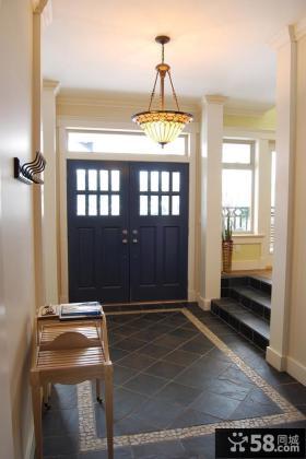 别墅进门玄关装饰设计图