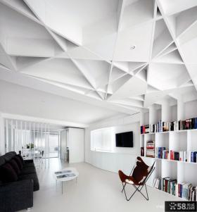 极简主义客厅吊顶设计