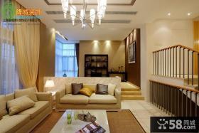 简约小复式三居客厅装修效果图