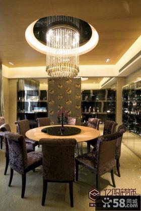 现代餐厅吊顶灯图片