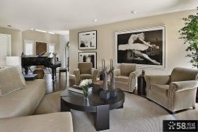 2012现代时尚装修风格 客厅沙发背景墙装修效果图