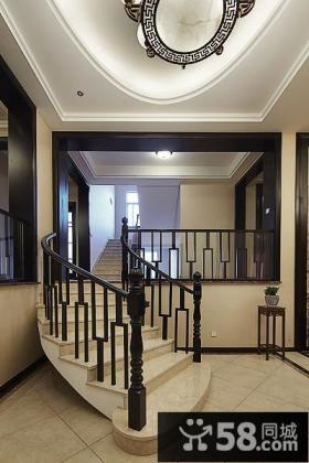 新古典中式实木楼梯