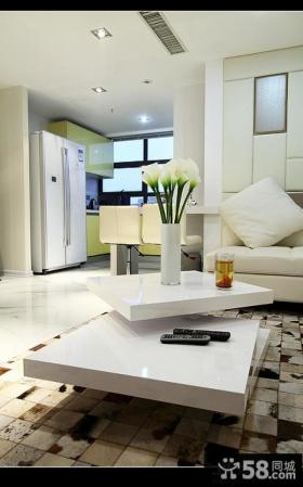 现代简约风格客厅样板房装修效果图