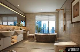 欧式现代别墅室内卫生间设计效果图片